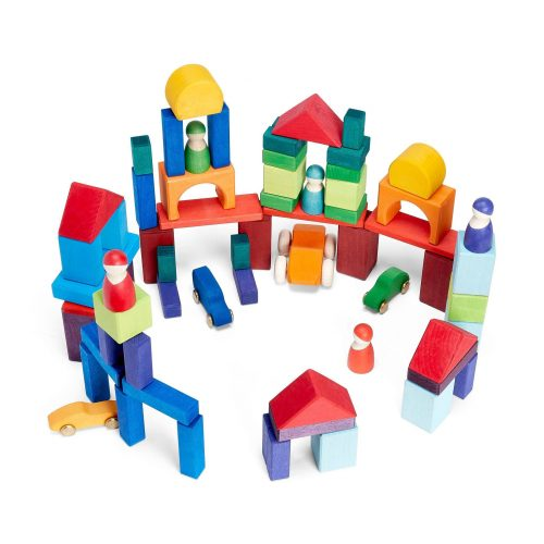 Grimms 60pce Coloured Blocks