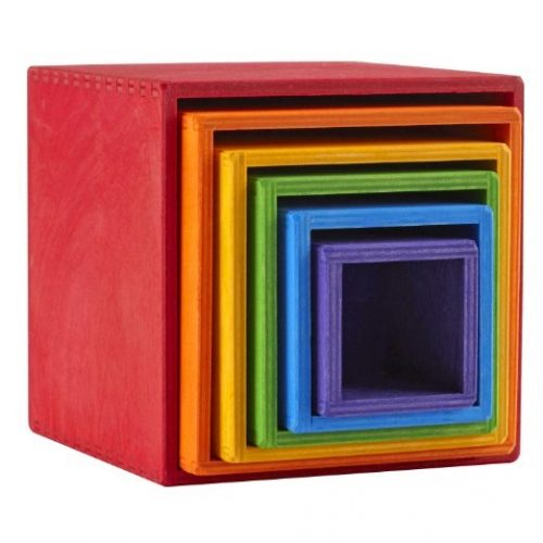 Grimms Large Stacking Boxes Rainbow