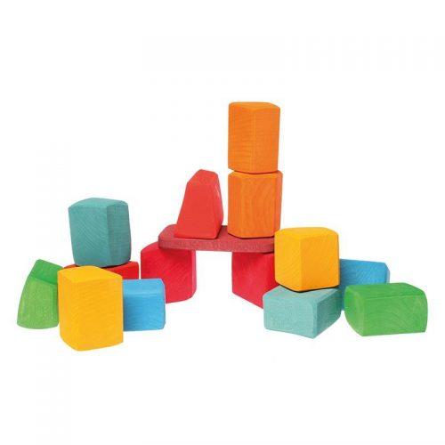 Grimms Coloured Blocks Large 15pce