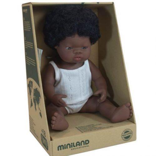 Miniland 38cm Female African Doll
