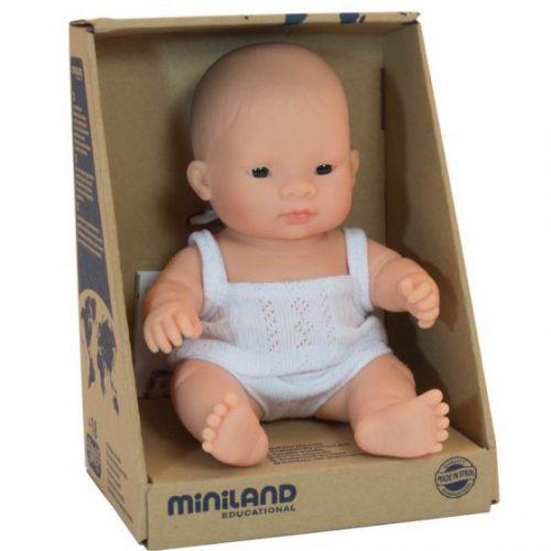Miniland 21cm Female Asian Baby Doll