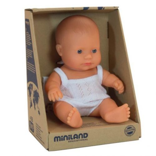Miniland 21cm Female Caucasian Baby Doll