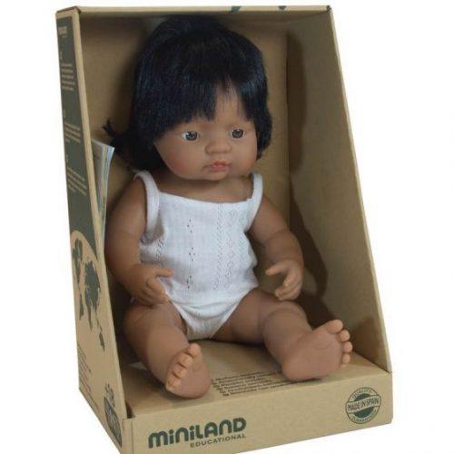 Miniland 38cm Female Hispanic Doll
