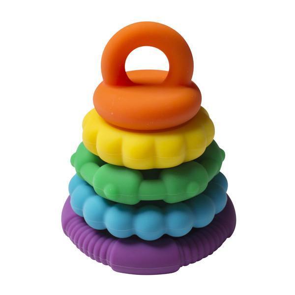 Rainbow Stacker Teether Bright