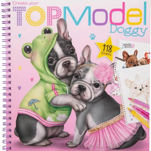 TOPModel Doggy Colouring Book