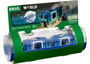 Brio Metro Train & Tunnel 3 Piece