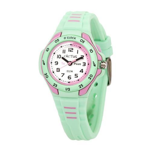 Cactus Time Teaching Watch - Mint