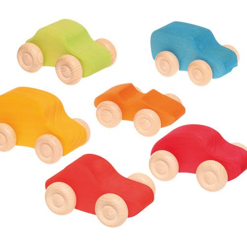 Grimms Small Coloured Cars (Set of 6)