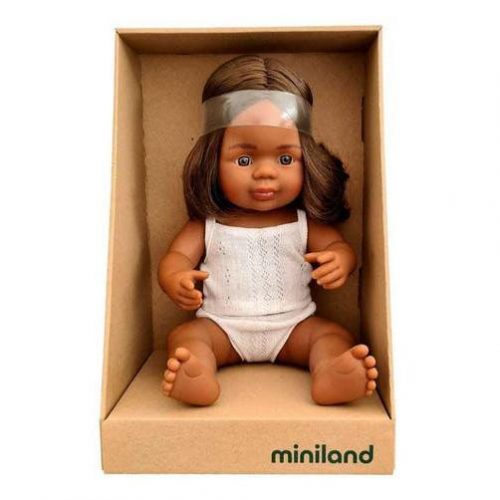 Miniland 38cm Female Indigenous Female Doll
