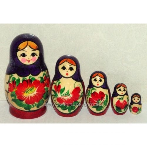 Babushka Kirov Traditional (5 Set) Purple