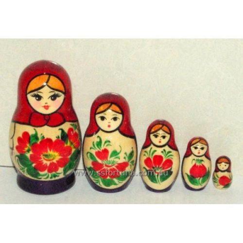 Babushka Kirov Traditional (5 set) Red