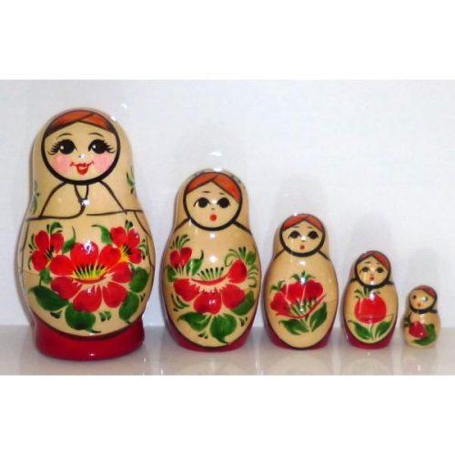 Babushka Kirov Traditional (5 set) White