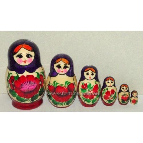 Babushka Kirov Traditional (6 set) Purple