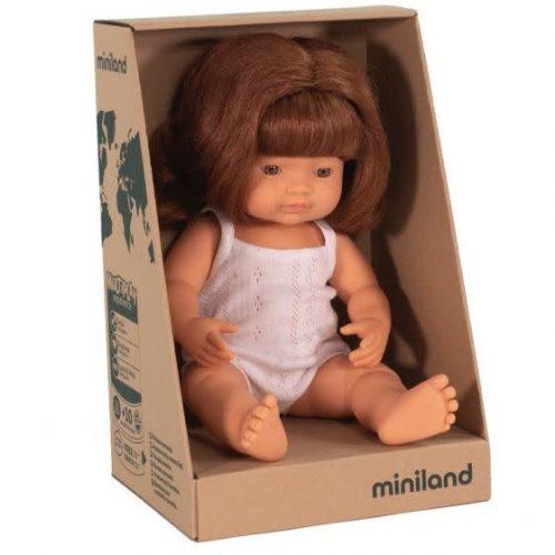 Miniland 38cm Red Head Caucasian Doll