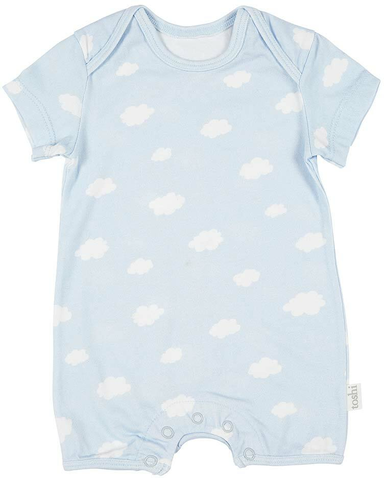 Toshi SS Onesie Clouds