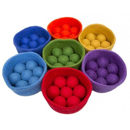 Papoose Rainbow Bowl Ball Set 0+